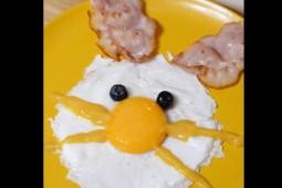 Conejo de huevo frito