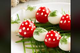 Brochetas de Tomate y Huevo